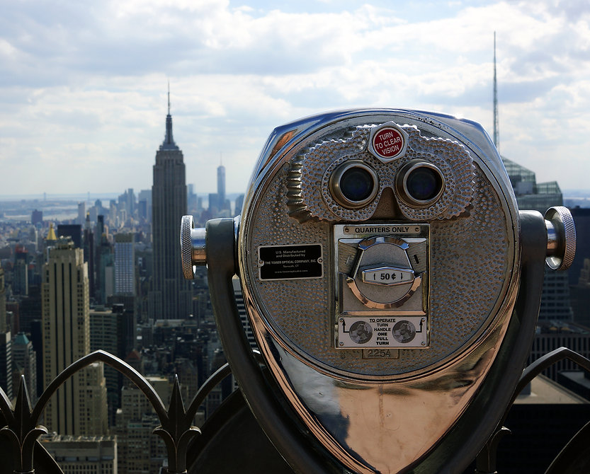 View from Top of the Rock, Rockefeller Center, NYC, New York,
