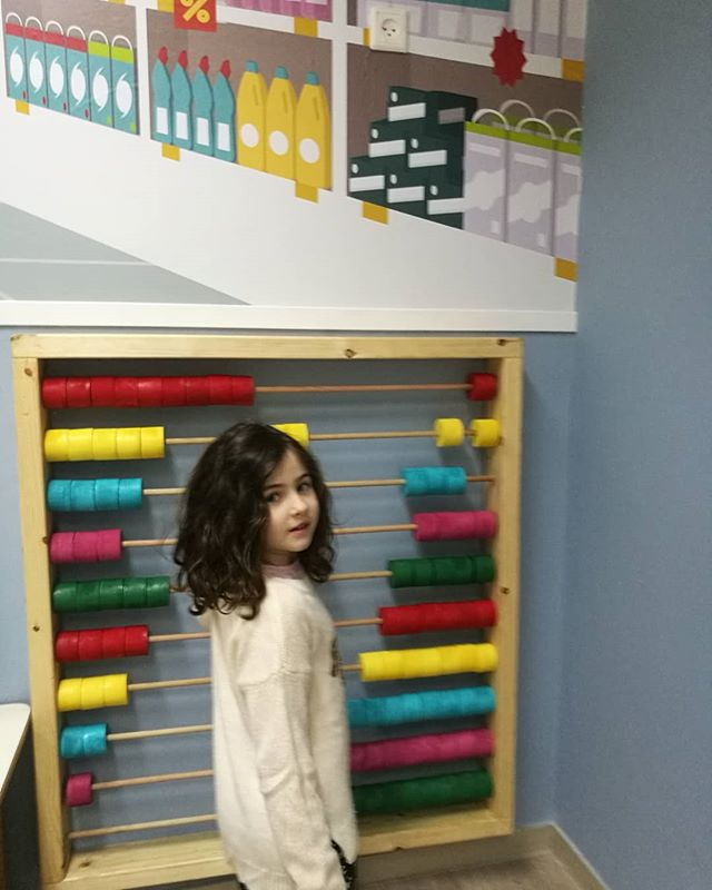 A Custom made giant abacus designed for