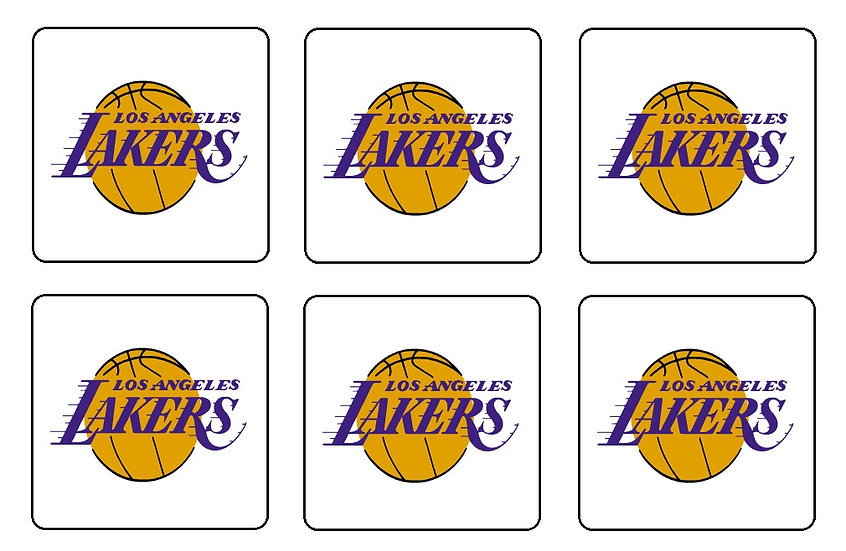 LOS ANGELES LAKERS BEVERAGE COASTERS