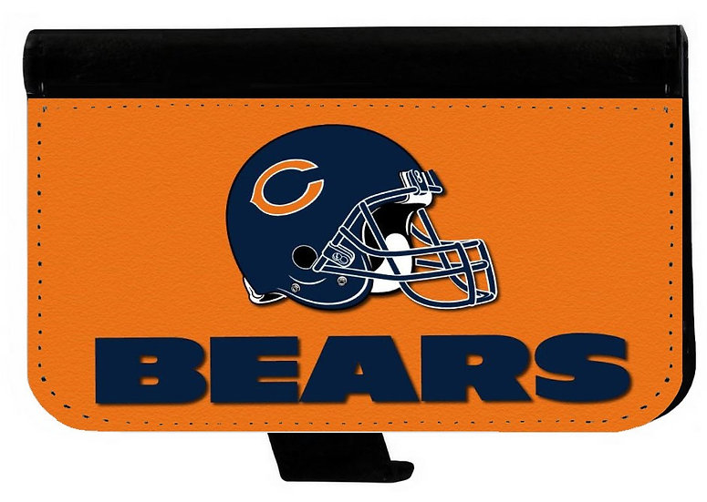 CHICAGO BEARS IPHONE OR GALAXY CELL PHONE CASE WALLET