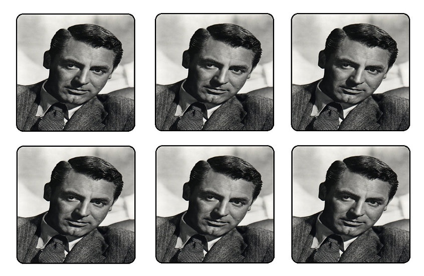 CARY GRANT BEVERAGE COASTERS