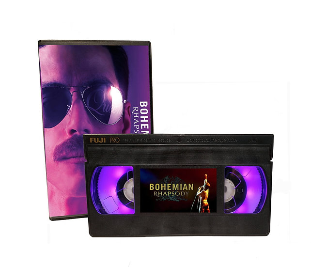 BOHEMIAN RHAPSODY VHS MOVIE NIGHT LIGHT