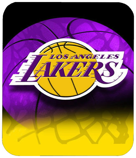 LOS ANGELES LAKERS MOUSE PAD - (BB)