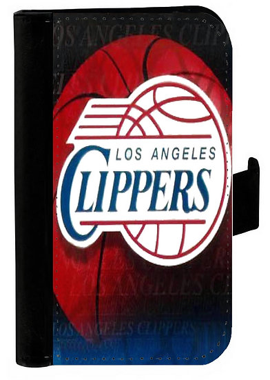 LOS ANGELES CLIPPERS IPHONE OR GALAXY CELL PHONE CASE WALLET