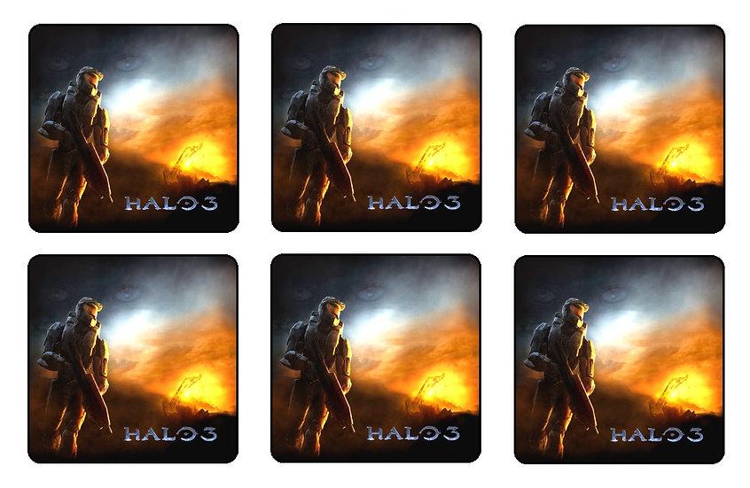 HALO 3 BEVERAGE COASTERS