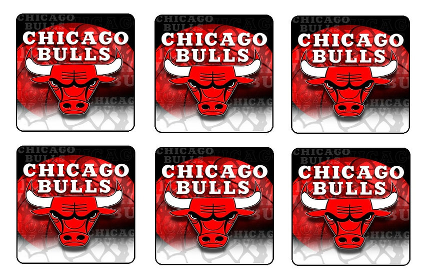 CHICAGO BULLS BEVERAGE COASTERS