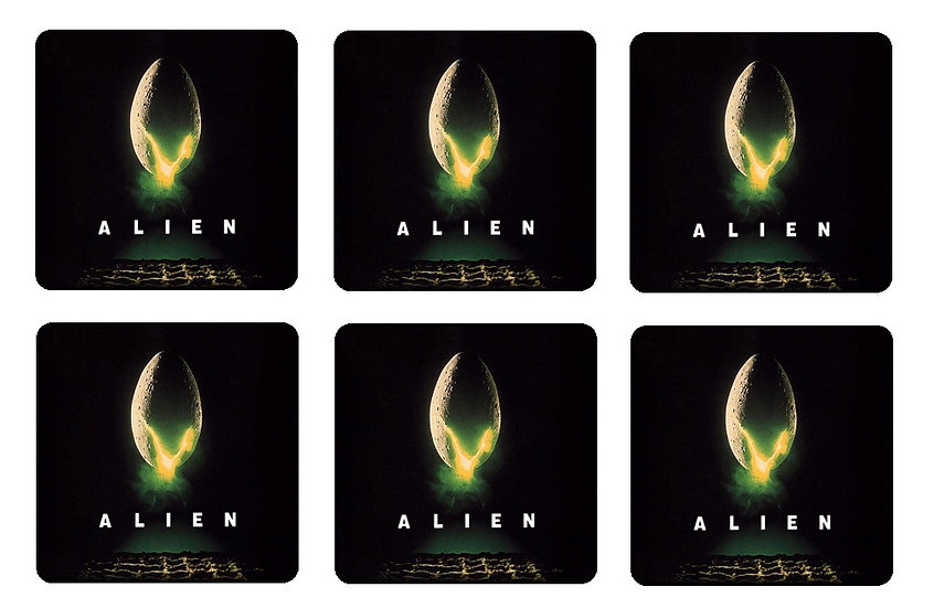 ALIEN BEVERAGE COASTERS