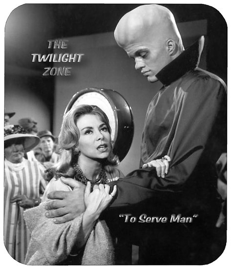 TWILIGHT ZONE (TO SERVE MAN) MOUSE PAD