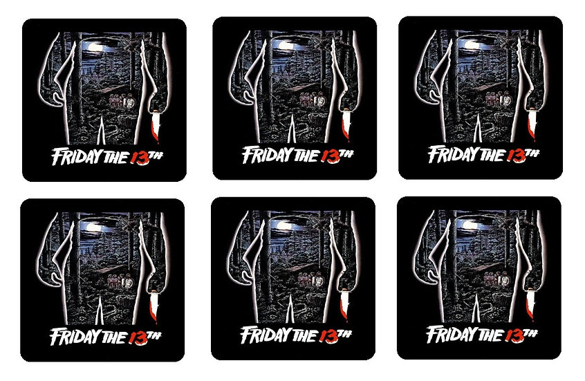 FRIDAY THE 13TH BEVERAGE COASTERS