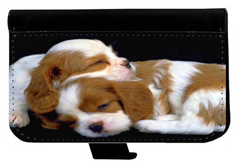 CUTE PUPPIES SLEEPING - LEATHER WALLET