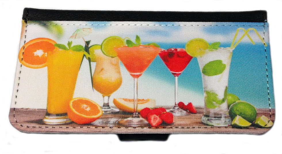 BEACH COCKTAILS IPHONE OR GALAXY CELL PHONE CASE WALLET