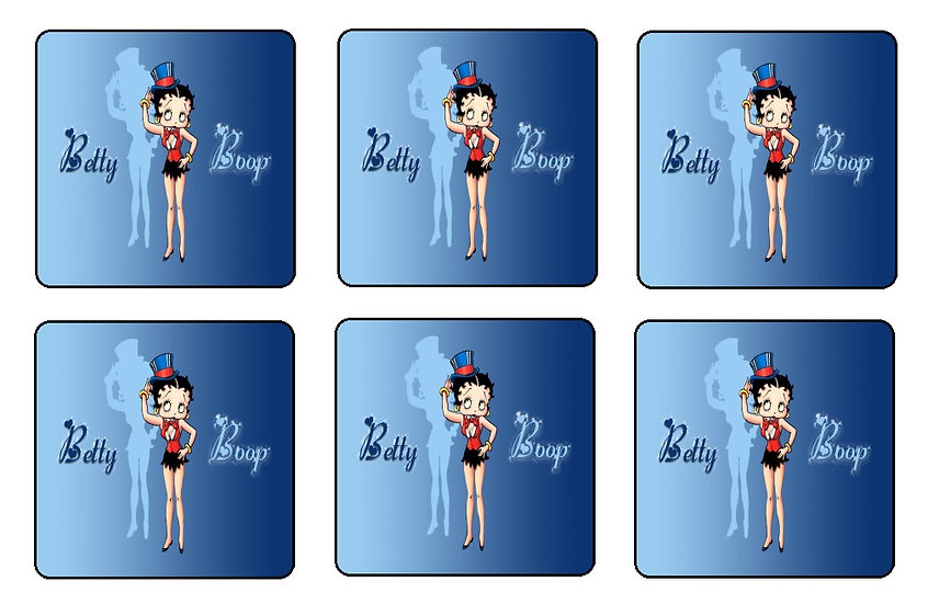 BETTY BOOP BEVERAGE COASTERS
