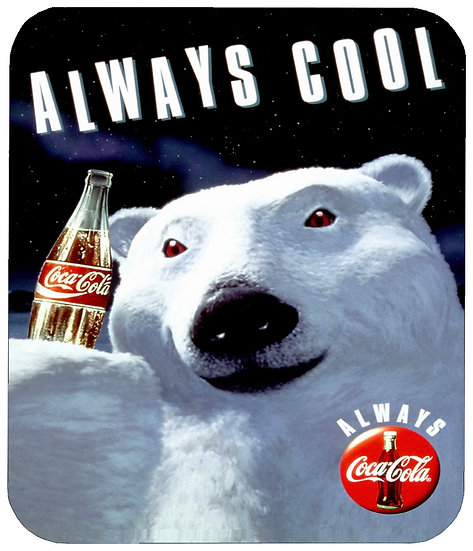 COCA COLA BEAR MOUSE PAD