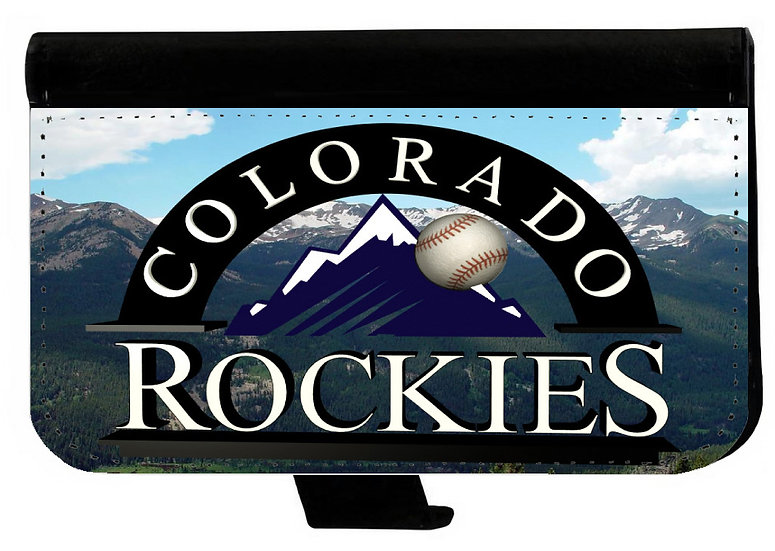 COLORADO ROCKIES - LEATHER WALLET