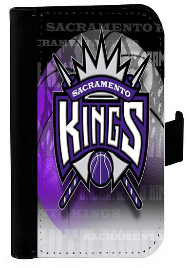 SACRAMENTO KINGS IPHONE OR GALAXY CELL PHONE CASE WALLET