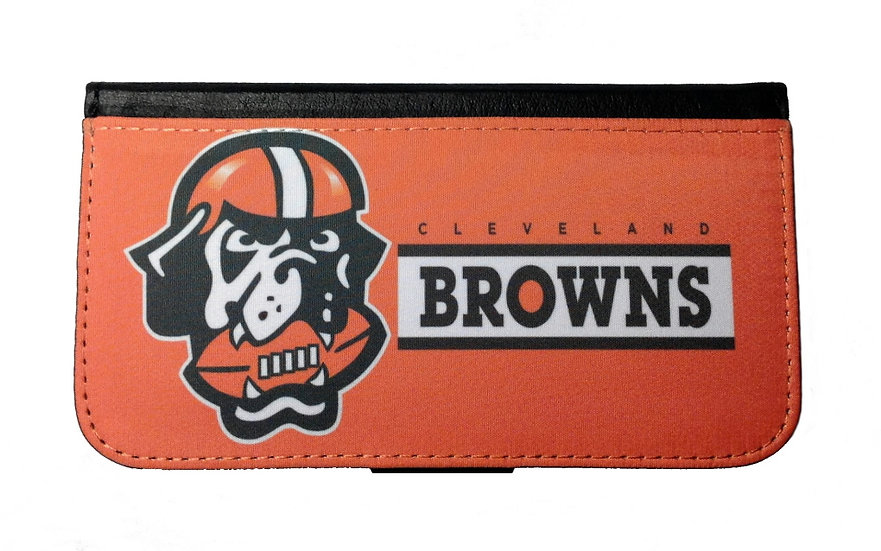 CLEVELAND BROWNS IPHONE OR GALAXY CELL PHONE CASE WALLET