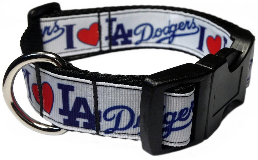 I LOVE DODGERS DOG COLLAR