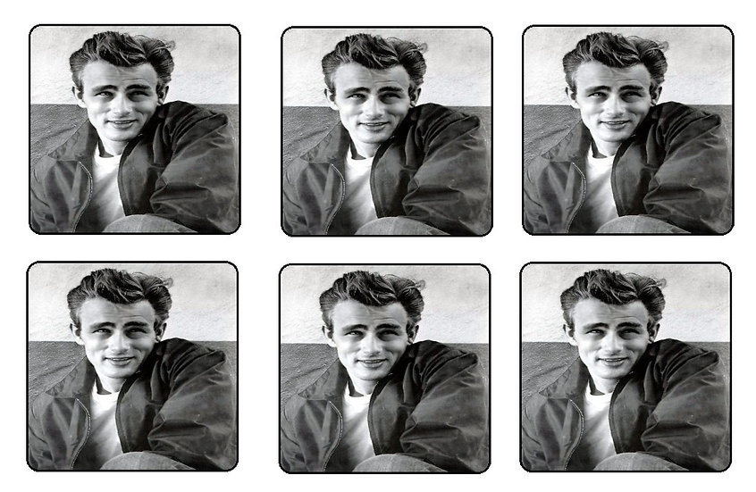 JAMES DEAN BEVERAGE COASTERS