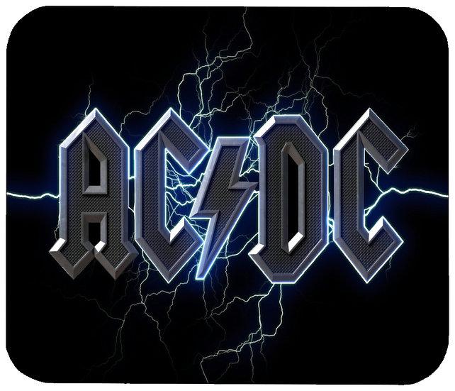 AC/DC MOUSE PAD - (BL)