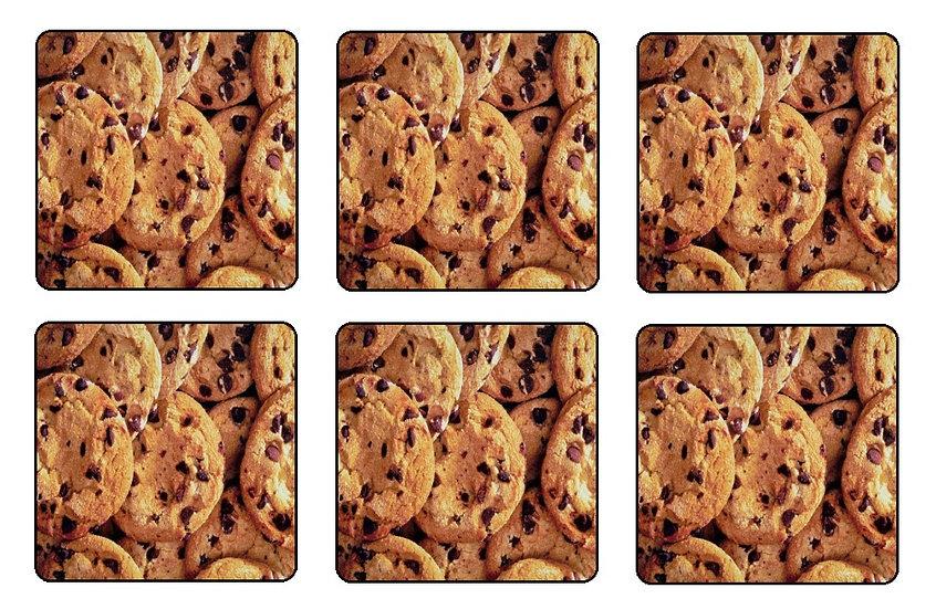 CHOCOLATE CHIP COOKIES BEVERAGE COASTERS