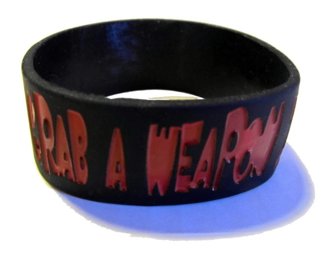 GRAB A WEAPON - SILICONE WRIST BAND