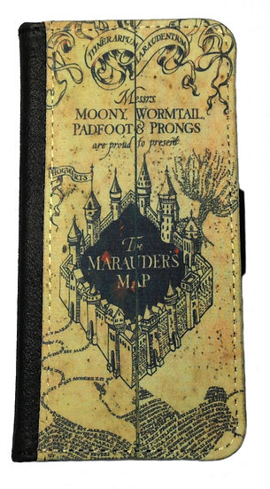 HARRY POTTER MARAUDERS MAP IPHONE OR CELL PHONE CELL PHONE CASE WALLET