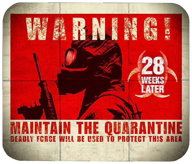 28 WEEKS LATER MOUSE PAD