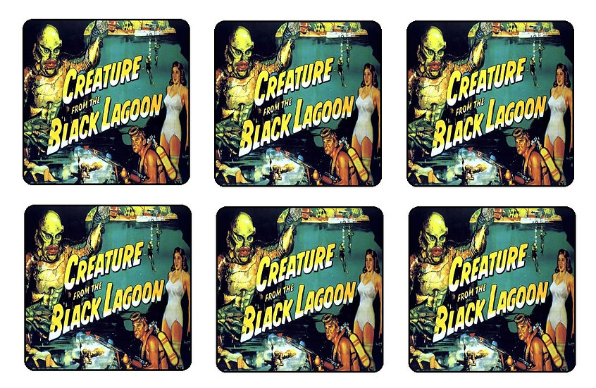 CREATURE FROM THE BLACK LAGOON COASTERS - (COL)
