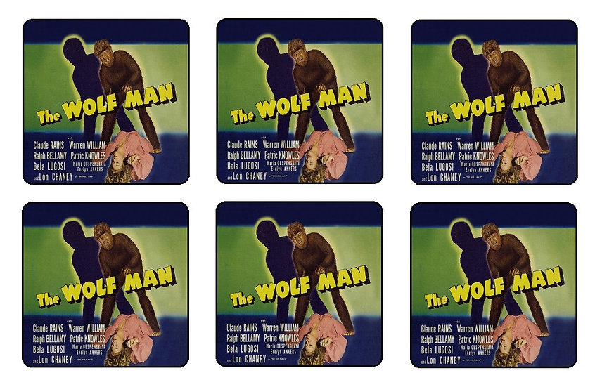 WOLF MAN BEVERAGE COASTERS