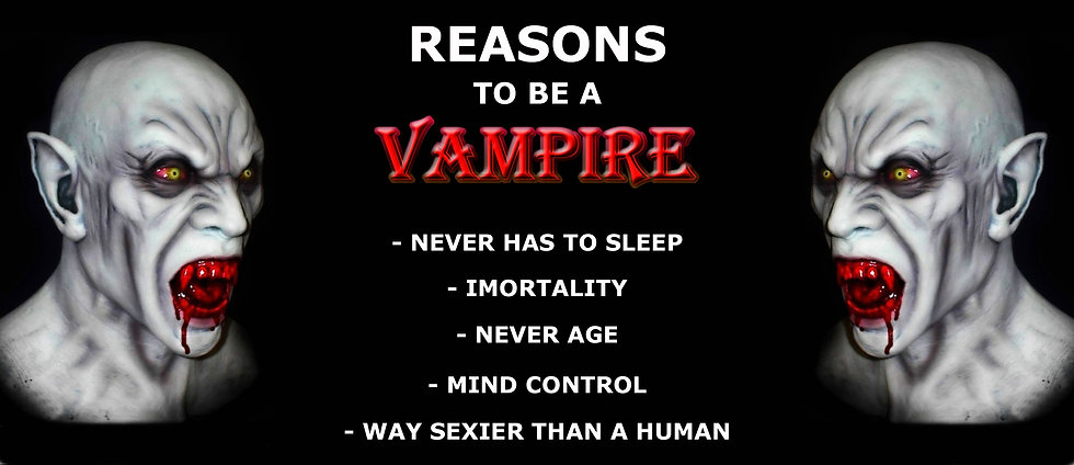 REASONS TO BE A VAMPIRE CERAMIC MUG