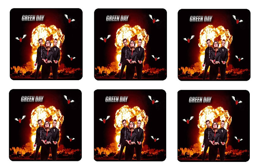 GREEN DAY BEVERAGE COASTERS