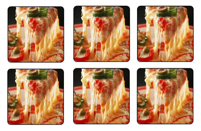 JALAPENO PIZZA BEVERAGE COASTERS