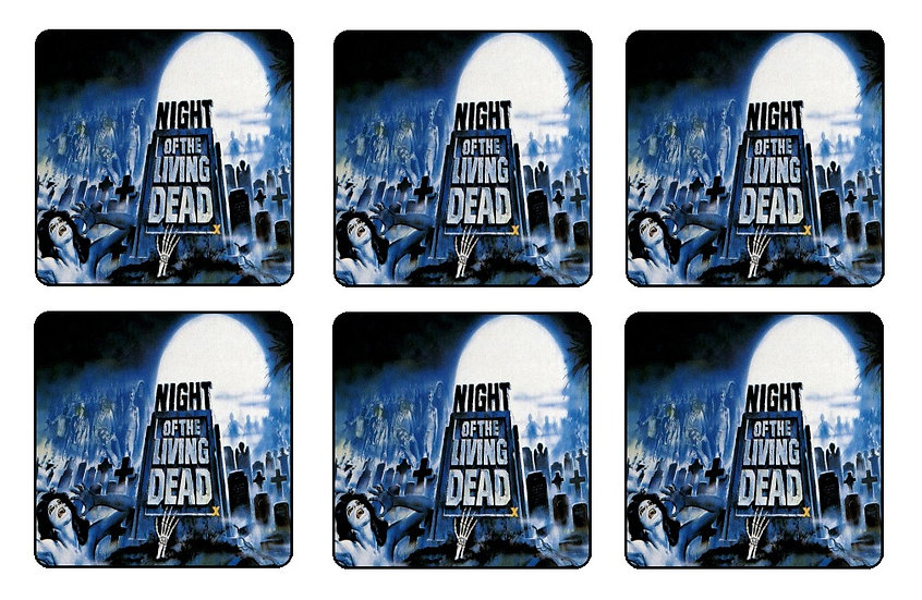 NIGHT OF THE LIVING DEAD COASTERS
