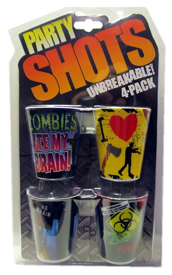 PARTY SHOTS ZOMBIE 4 PACK