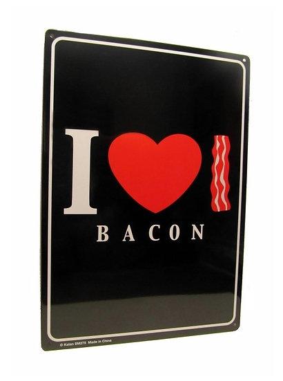 I LOVE BACON - TIN SIGN