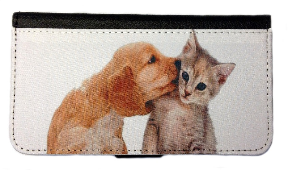 DOG & CAT IPHONE OR GALAXY CELL PHONE CASE WALLET WALLET