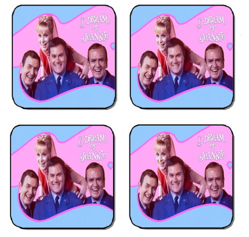 I DREAM OF JEANNIE BEVERAGE COASTERS