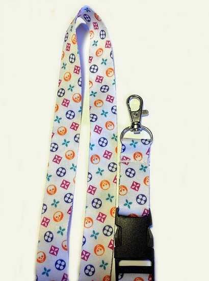 COLORED SKULLS LANYARD