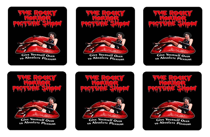 ROCKY HORROR PICTURE SHOW BEVERAGE COASTERS
