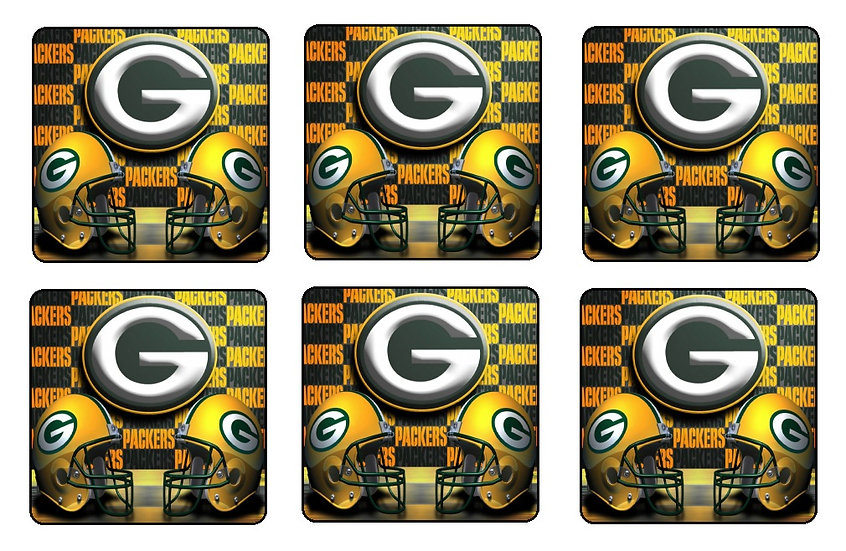 GREEN BAY PACKERS BEVERAGE COASTERS