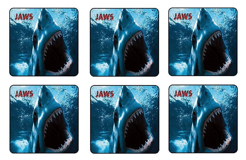 JAWS BEVERAGE COASTERS