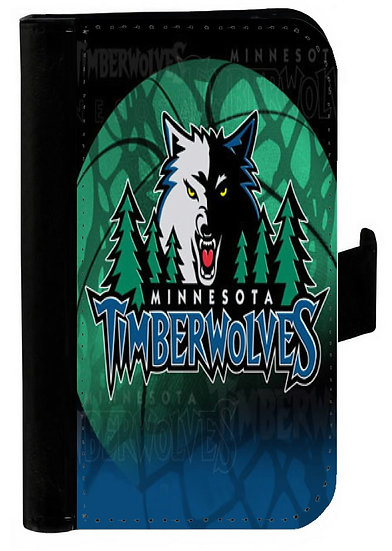 MINNESOTA TIMBERWOLVES IPHONE OR GALAXY CELL PHONE CASE WALLET