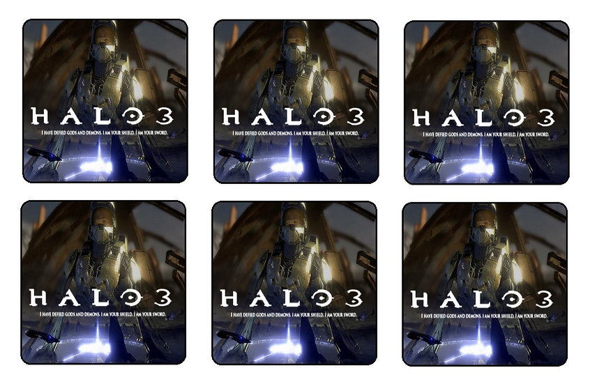 HALO 3 BEVERAGE COASTERS