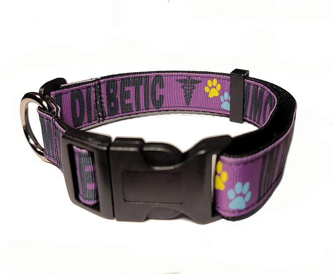 I AM DIABETIC DOG COLLAR