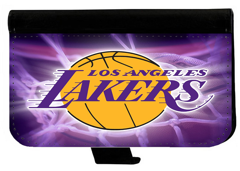 LOS ANGELES LAKERS IPHONE OR GALAXY CELL PHONE CASE WALLET