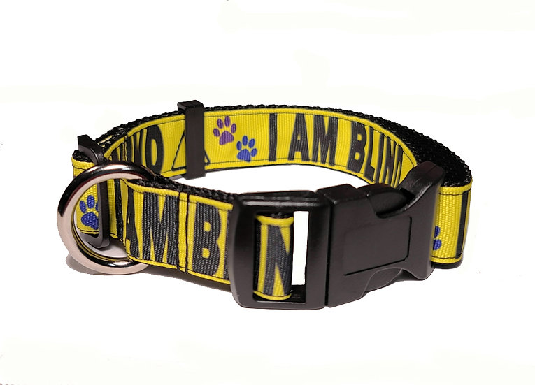 I AM BLIND DOG COLLAR