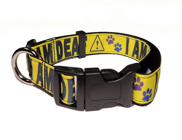 I AM DEAF DOG COLLAR