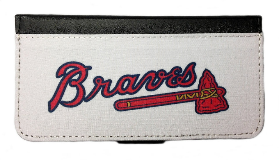 ATLANTA BRAVES IPHONE OR GALAXY CELL PHONE WALLET