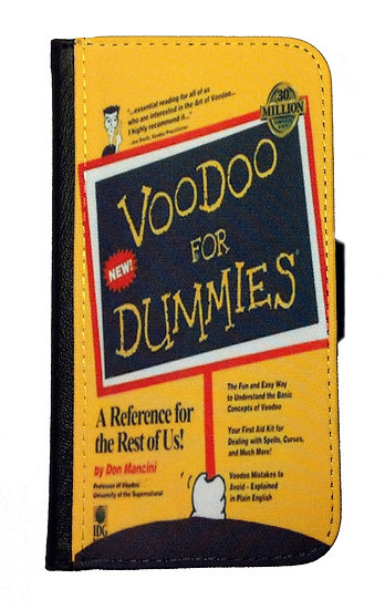 CHILDS PLAY VOODOO FOR DUMMIES IPHONE OR GALAXY CELL PHONE CASE WALLET