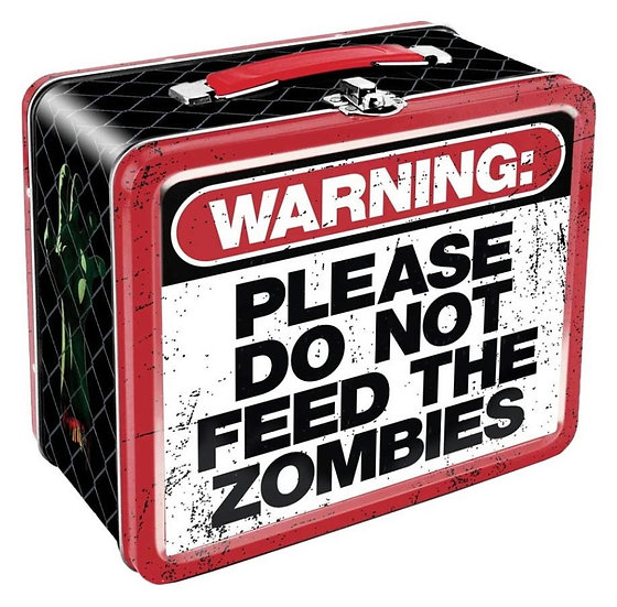 WARNING PLEASE DO NOT FEED THE ZOMBIE - LUNCHBOX